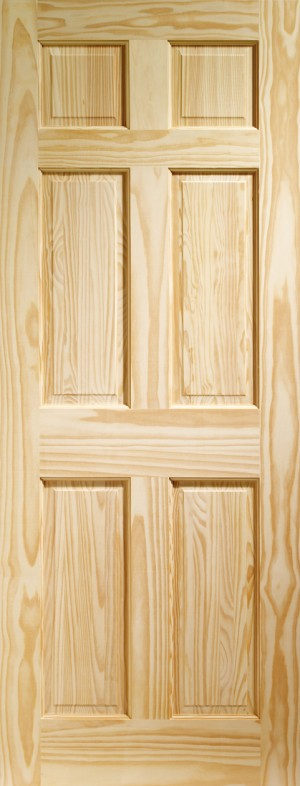 XL JOINERY DOORS -  CPIN6P826  Internal Clear Pine Colonial 6 Panel  CPIN6P826