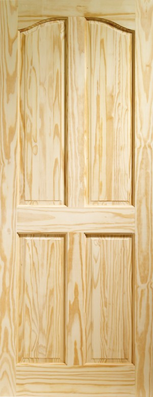 XL JOINERY DOORS -  CPRIO33  Internal Clear Pine Rio 4 Panel  CPRIO33