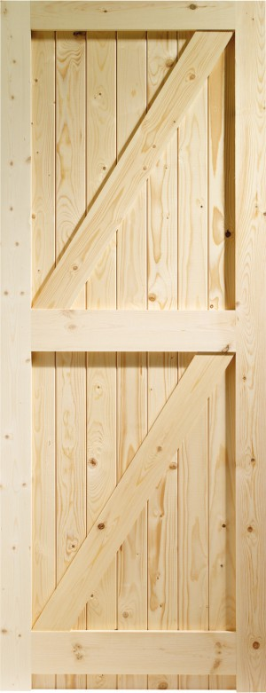 XL JOINERY DOORS -  FLB27  External Pine Framed Ledged & Braced Gate   FLB27