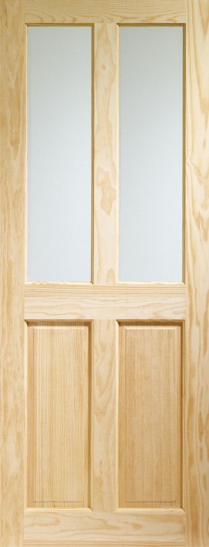 XL JOINERY DOORS -  GCPVIC33  Internal Clear Pine Victorian with Clear Glass  GCPVIC33