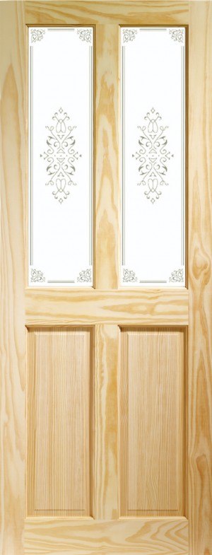 XL JOINERY DOORS -  GCPVICC27  Internal Clear Pine Victorian with Campion Glass  GCPVICC27