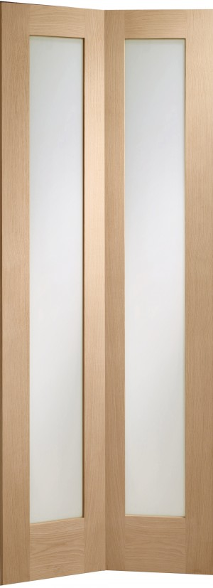 XL JOINERY DOORS -  GOBFP1030  Internal Oak Pattern 10 Bi-Fold with Clear Glass  GOBFP1030