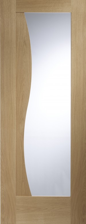 XL JOINERY DOORS -  GOEMI30  Emilia Internal Oak Door with Clear Glass  GOEMI30