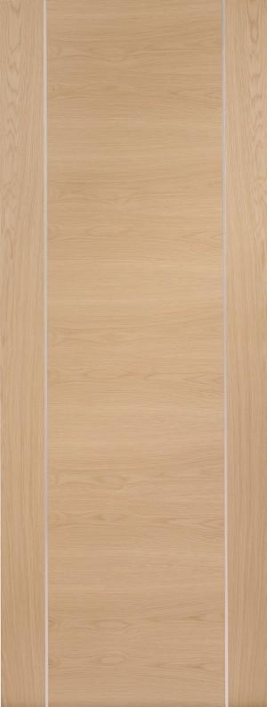 XL JOINERY DOORS -  PFINTOFOR27  Internal Oak Pre-Finished Forli (Alum Inlay)  PFINTOFOR27