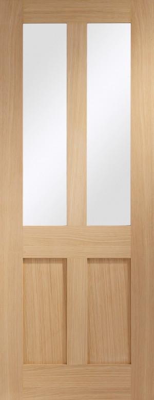 XL JOINERY DOORS -  GOMALSHA30  Internal Oak Malton Shaker with Clear Glass  GOMALSHA30