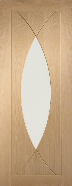 XL JOINERY DOORS -  PFGOPES826  Internal Oak Pre-Finished Pesaro with Clear Glass  PFGOPES826
