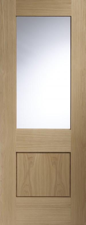 XL JOINERY DOORS -  GOPIA30  Piacenza Internal Oak Door with Clear Glass  GOPIA30