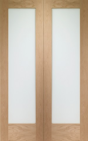 XL JOINERY DOORS -  GOPP1036  Internal Oak Pattern 10 Rebated Door Pair with Clear Glass  GOPP1036