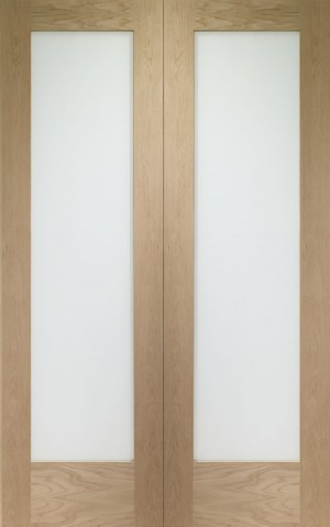 XL JOINERY DOORS -  GOPP1046O Internal Oak Pattern 10 Rebated Door Pair with Obscure Glass  GOPP1046O