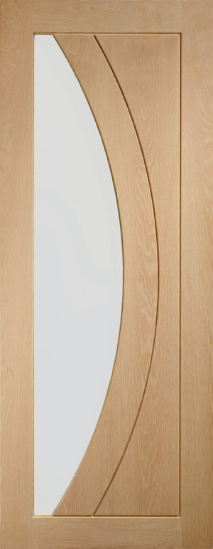 XL JOINERY DOORS -  GOSAL27  Internal Oak Salerno with Clear Glass  GOSAL27