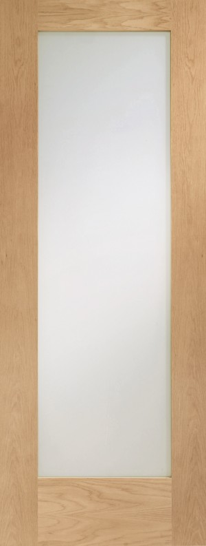 XL JOINERY DOORS -  PFGOSHAP1027  Internal Oak Pre-finished Pattern 10 with Obscure Glass  PFGOSHAP1027