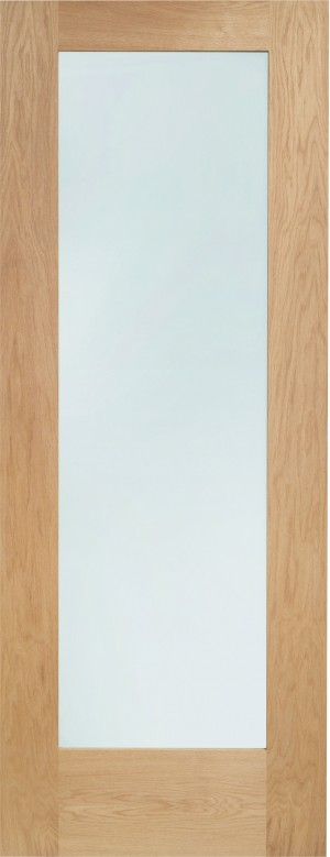 XL JOINERY DOORS -  PFGOSHAP1027C  Internal Oak Pre-finished Pattern 10 with Clear Glass  PFGOSHAP1027C
