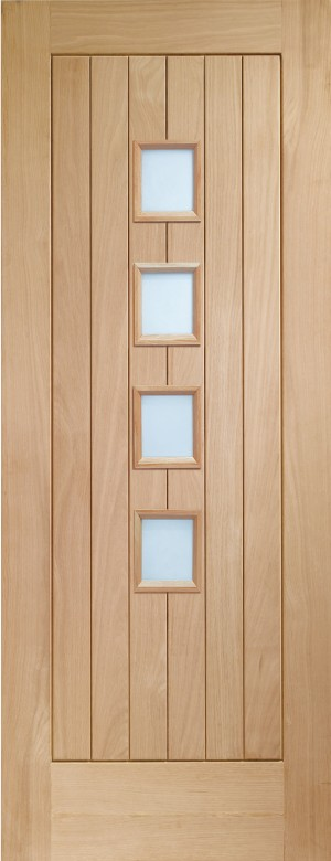 XL JOINERY DOORS -  GOSUFC4L27  Internal Oak Suffolk 4 Light with Obscure Glass  GOSUFC4L27