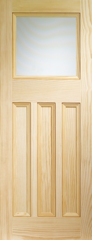XL JOINERY DOORS -  GVGDX30  Internal Vertical Grain Clear Pine Vine DX with Obscure Glass  GVGDX30