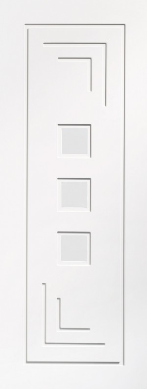 XL JOINERY DOORS -  GWPALT30  Internal White Primed Altino with Clear Glass  GWPALT30