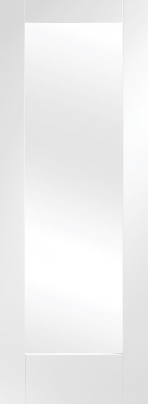 XL JOINERY DOORS -  GWPP1032C-FD Internal White Primed Pattern 10 with Clear Glass Fire Door  GWPP1032C-FD
