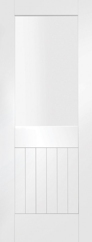 XL JOINERY DOORS -  GWPSUF1L24 Internal White Primed Suffolk 1 Light with Clear Glass  GWPSUF1L24