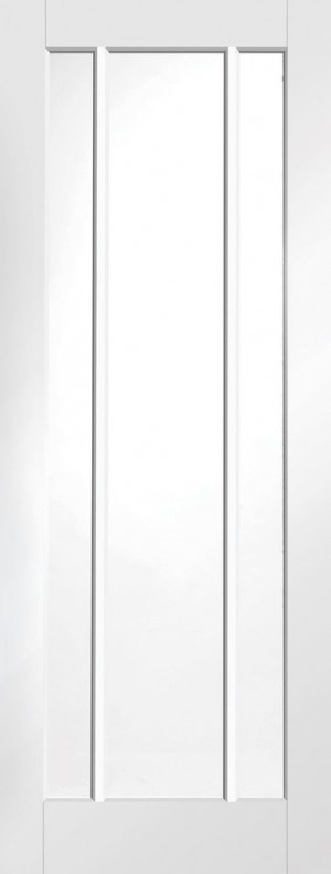 XL JOINERY DOORS -  GWPWOR27  Internal White Primed Worcester with Clear Glass  GWPWOR27
