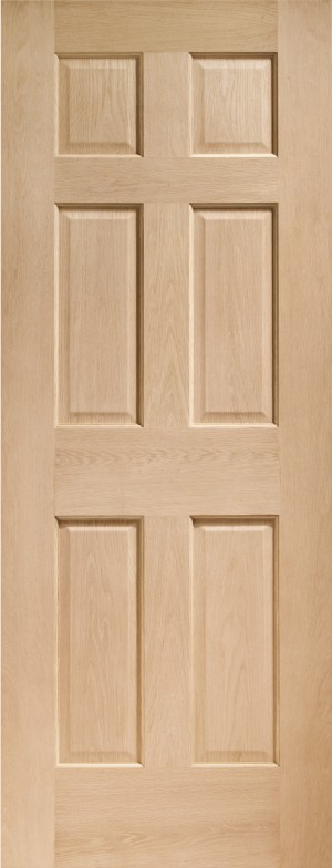 XL JOINERY DOORS -  INTOCOL30-FD  Internal Oak Colonial 6 Panel Fire Door  INTOCOL30-FD