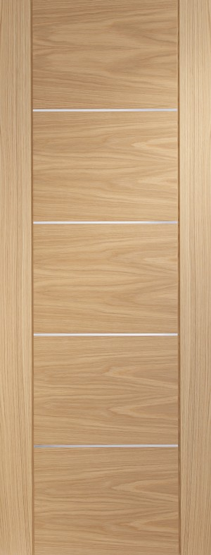XL JOINERY DOORS -  PFINTOPOR30-FD  Internal Oak Pre-finished Portici Fire Door  PFINTOPOR30-FD