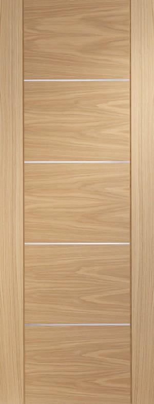 XL JOINERY DOORS -  PFINTOPOR27-FD Internal Oak Pre-finished Portici Fire Door  PFINTOPOR27-FD
