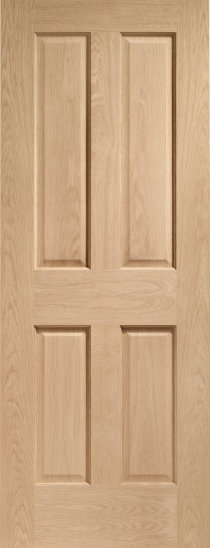 XL JOINERY DOORS -  PFINTOVIC826  Internal Oak Pre-finished Victorian 4 Panel  PFINTOVIC826