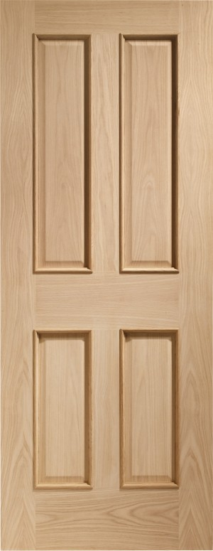 XL JOINERY DOORS -  INTOVIC32RM-FD  Internal Oak Victorian 4 Panel Fire Door with Raised Mouldings  INTOVIC32RM-FD