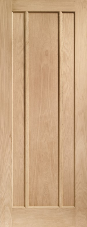XL JOINERY DOORS -  INTOWOR826  Internal Oak Worcester 3 Panel  INTOWOR826