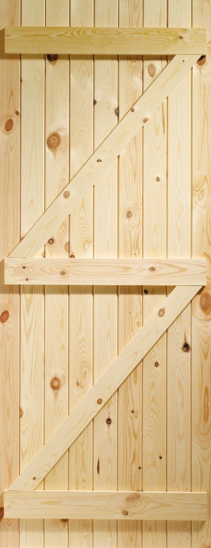 XL JOINERY DOORS -  LB33  External Pine Ledged & Braced Gate  LB33