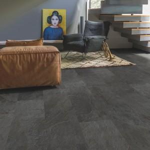 QUICK STEP VINYL FLOORING (LVT) Black Slate  AMCL40035