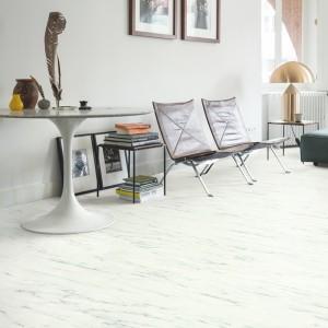 QUICK STEP VINYL FLOORING (LVT) Marble Carrara White  AMCL40136