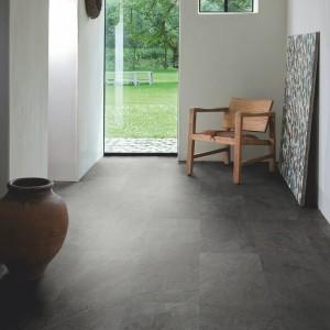 QUICK STEP VINYL FLOORING (LVT) Black Slate  AMCP40035
