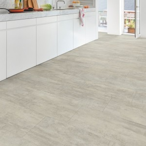 QUICK STEP VINYL FLOORING (LVT) Light Grey Travertin  AMGP40047