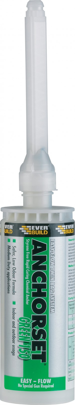SikaEverbuild Anchorset Resin Green 150ml [SEANCHGRE150]