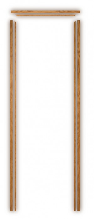 XL JOINERY DOORS -  PFODL133  Pre-Finished Internal Oak Door Lining Set (133mm)  PFODL133