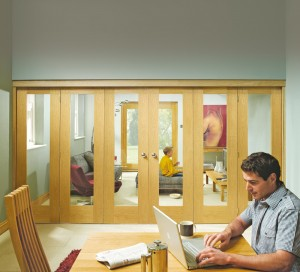 XL JOINERY DOORS -  OFFOLD4  Internal Oak Freefold (4 Door System - Excludes Doors)  OFFOLD4