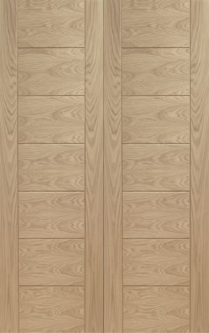 XL JOINERY DOORS -  OPPAL46 Internal Oak Palermo Rebated Door Pair  OPPAL46