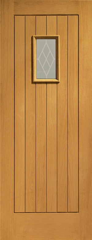 XL JOINERY DOORS -  PFDGOCHAN30  Pre-Finished Ext Oak Double Glazed Chancery (Decorative)  PFDGOCHAN30