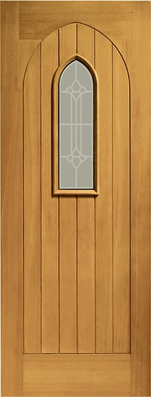 XL JOINERY DOORS -  PFDGOWEST33  Pre-Finished Ext Oak Double Glazed Westminster (Decorative)  PFDGOWEST33