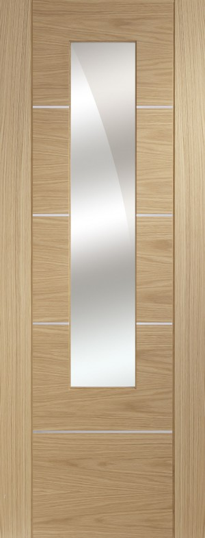 XL JOINERY DOORS -  PFGOPOR30M Pre-Finished Portici Oak with Mirror  PFGOPOR30M
