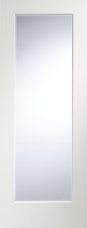 XL JOINERY DOORS -  PFGWFCES33  Cesena Pre-Finished White Internal Door with Clear Bevelled Glass  PFGWFCES33