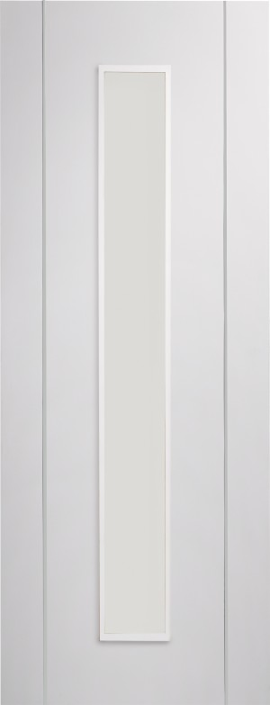 XL JOINERY DOORS -  PFGWFFOR30  Forli Pre-Finished Internal White Door with Clear Glass   PFGWFFOR30