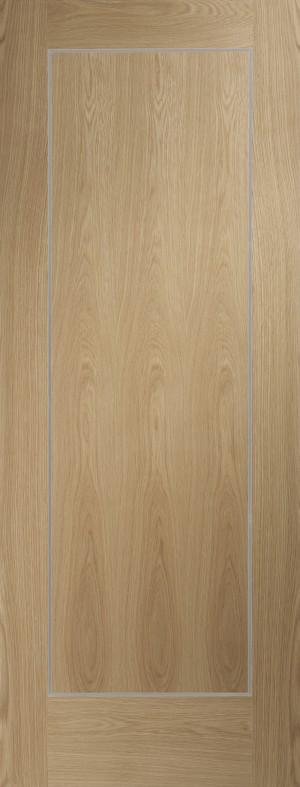 XL JOINERY DOORS -  PFINTOVAR27  Varese Pre-Finished Internal Oak Door  PFINTOVAR27