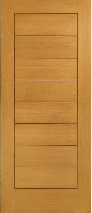 XL JOINERY DOORS -  PFOMOD33  Pre-Finished External Oak Modena  PFOMOD33
