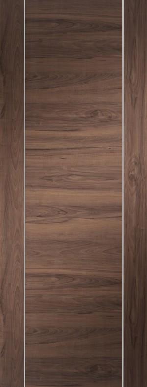XL JOINERY DOORS -  PFWALFOR27  Forli Pre-Finished Internal Walnut Door   PFWALFOR27