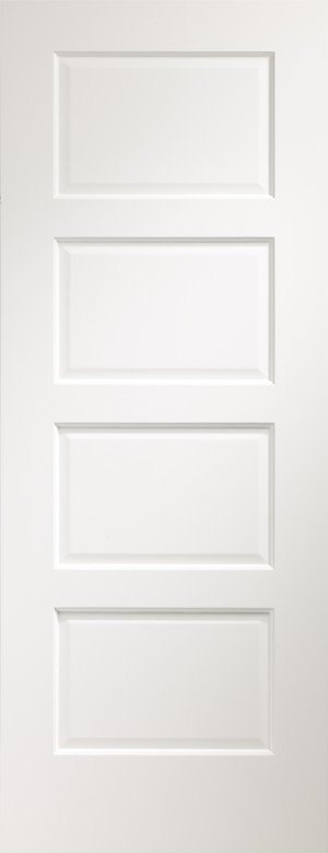 XL JOINERY DOORS -  PFWFSEV30-FD Pre-Finished Internal White Severo Fire Door  PFWFSEV30-FD