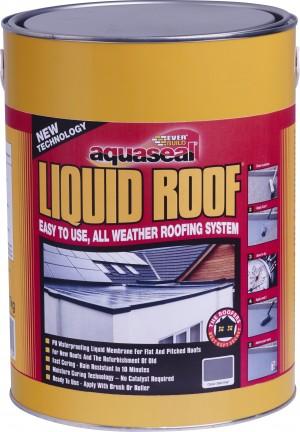 SikaEverbuild Aquaseal Liquid Roof Slate Grey 7kg [EVBAQLIQRFGY7]
