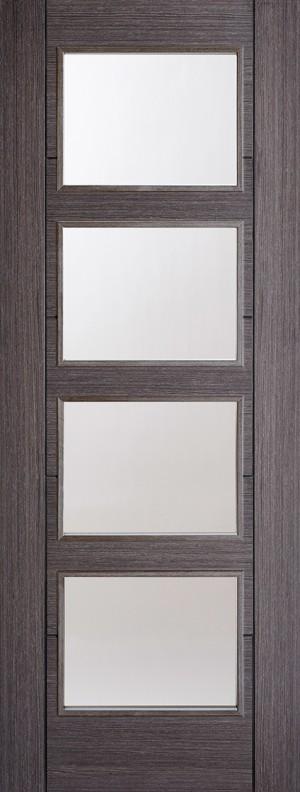 "LPD - Internal Door - Ash Grey Vancouver Glazed 4L 1981 x 686 (27"")  ASHVAN4L27"