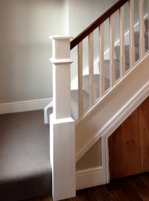 Pear Stairs - August White Primed Staircase (335)