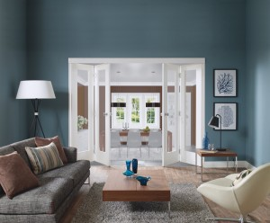 XL JOINERY DOORS -  WFFOLD2  Internal White Freefold (2 Door System - Excludes Doors)  WFFOLD2